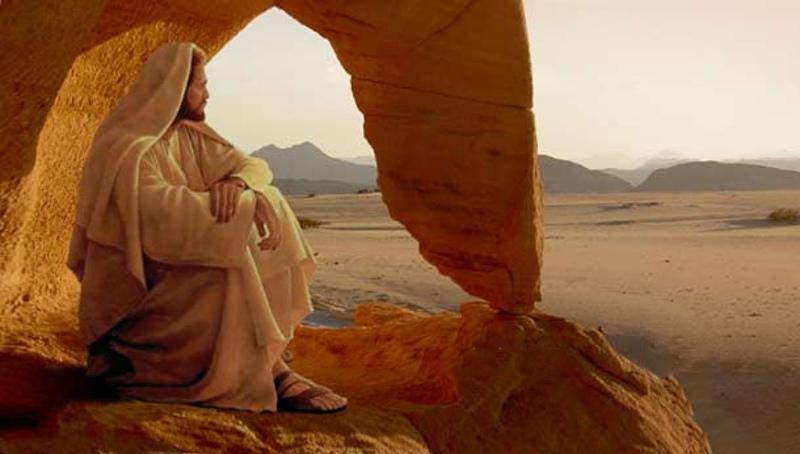 Resultado de imagen de jesús en el desierto
