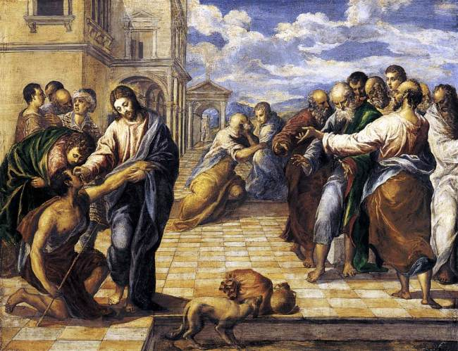 Curacón del ciego, de El Greco