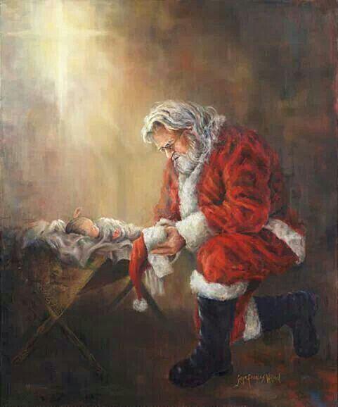 niño Dios y papá Noel